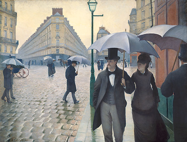 Gustave Caillebotte's Paris Street; Rainy Day