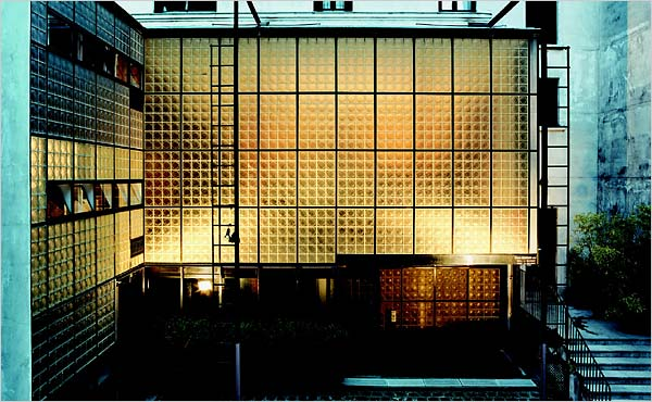 The exterior of the Maison de Verre. Photo by Mark Lyon.