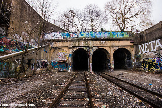 East New York Freight Tunnel-Abandoned Platform-Station-NYC